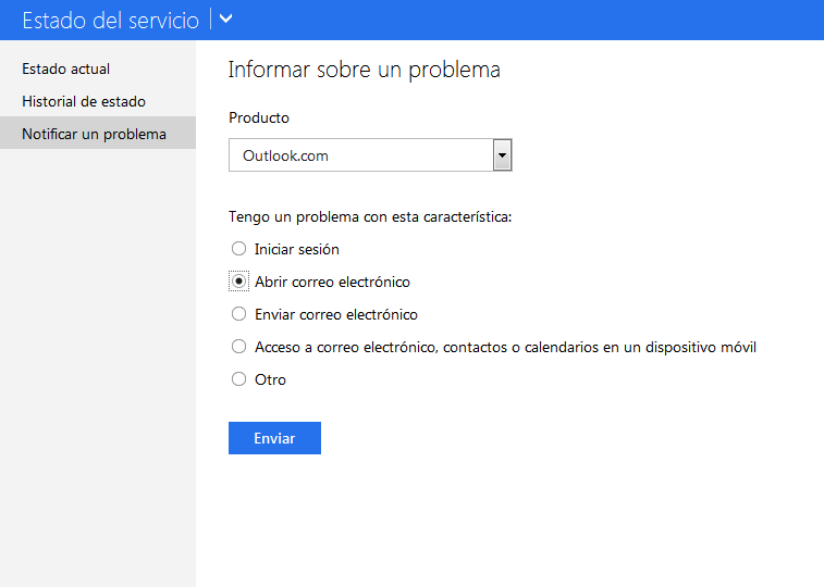 verifica el status outlook.com paso 3
