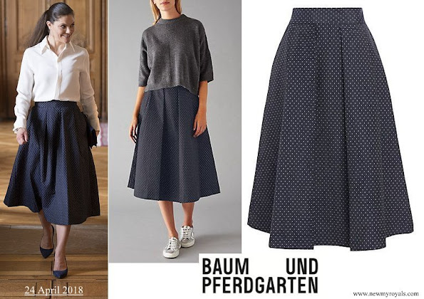 Crown cess Victoria wore Baum Und Pferdgarten Sashenka Pleat Skirt