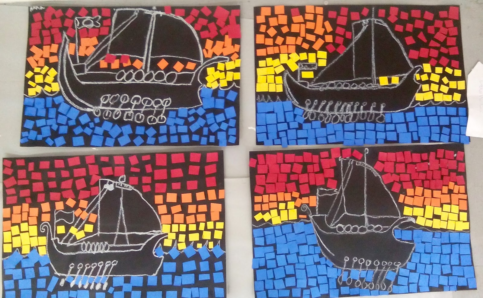 Art With Katie Art For Kids Greek Or Roman Ship Mosaics