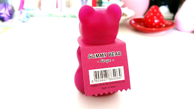 The back of the Grape Gummy Bear Jelly Hand Cream.
