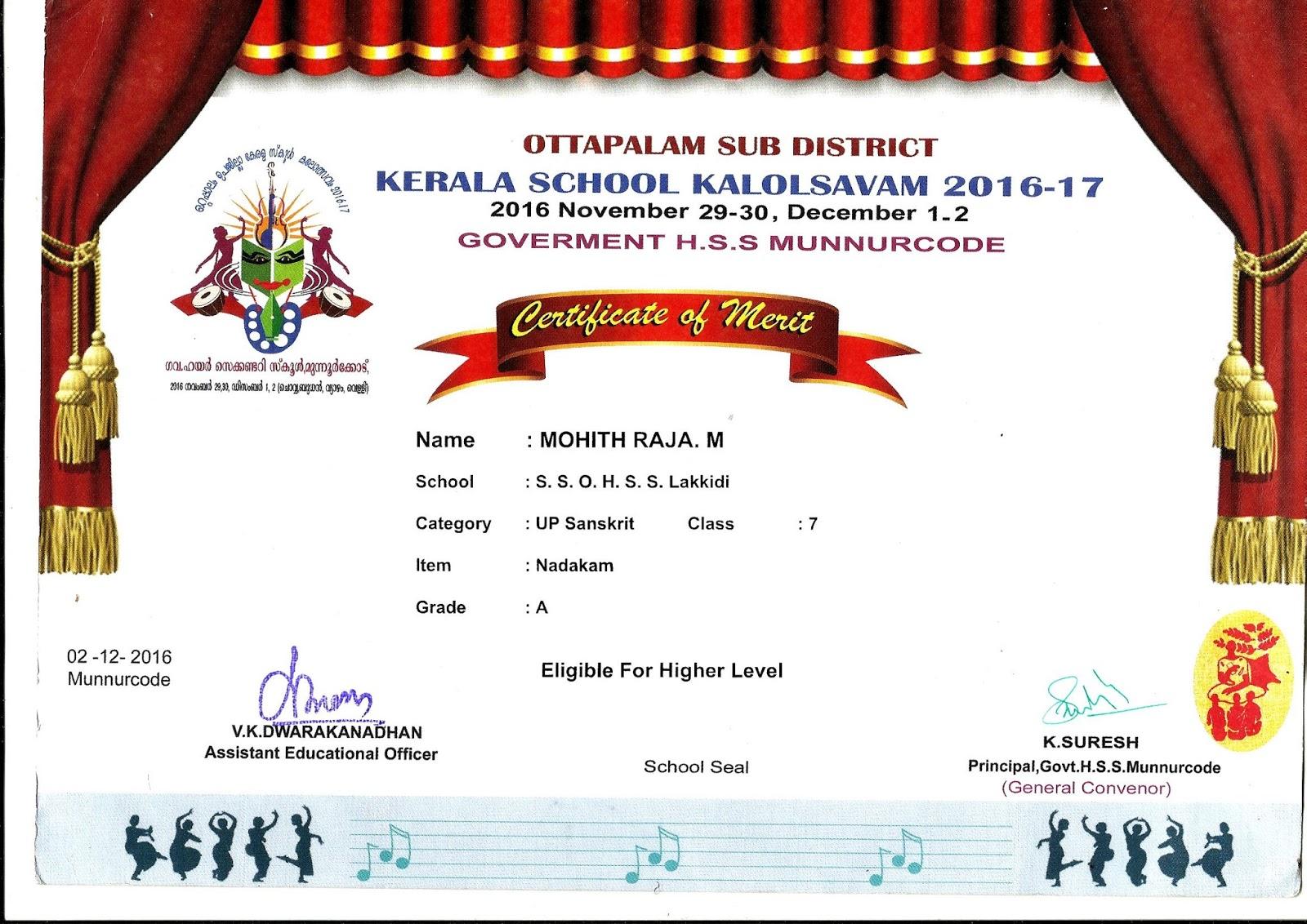 MMOHIT RAJAH – Merit Certificate Comments