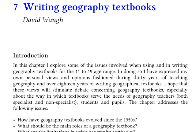 LivingGeography: About geography textbooks