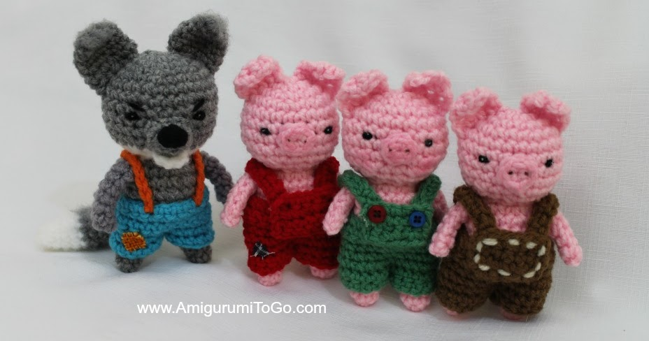 Big Bad Wolf and the Three Little Pigs ~ Amigurumi To Go