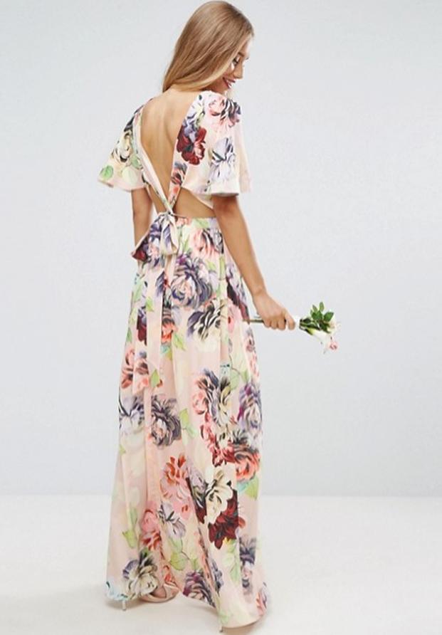 Vestido estampado de Asos