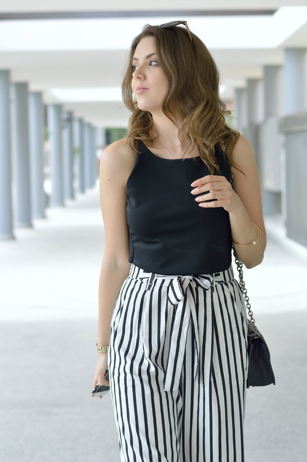 Ben noto Stripe culotte pants: Casual Chic da giorno - Ellysa ZF33