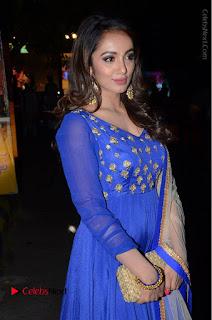 Telugu Actress Tejaswi Madivada Pos in Blue Long Dress at Nanna Nenu Na Boyfriends Audio Launch  0059.JPG