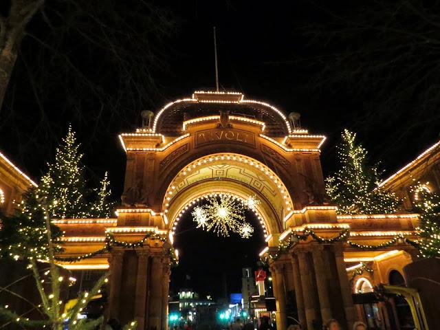 Tivoli Christmas market in Copenhagen