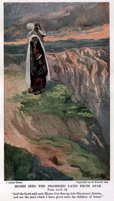 משה  על פסגת הר נבו