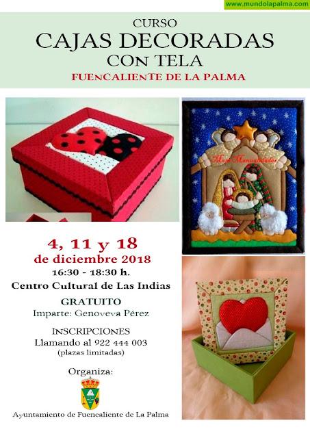 Fuencaliente organiza un curso de Decoración de Cajas para esta Navidad