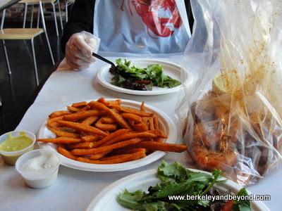 meal at Amazing Crab Restaurant in Berkeley, California
