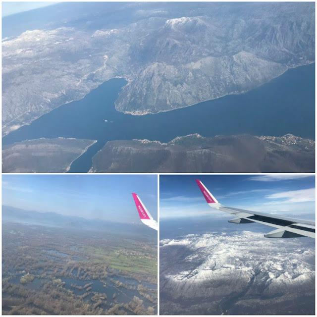 vistas de Montenegro desde el avion
