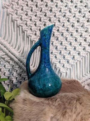 sleek blue ceramic vase eclecticdaffodil