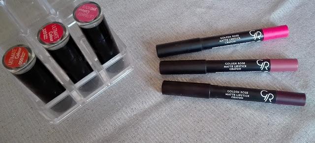 Golden Rose Matte Lipstick Crayon - 03, 11, 17