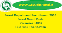 Forest Department Recruitment 2016