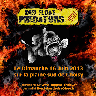 Défi float tube predators à choisy le roi