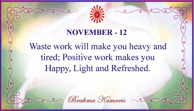 Thought For The Day November 12