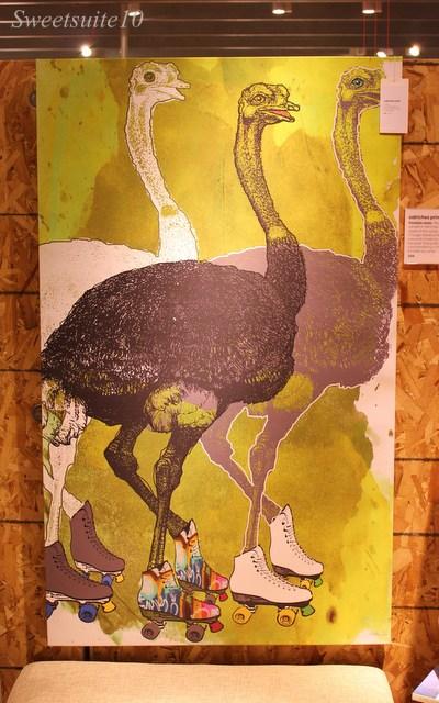 CB2 - Ostriches Print