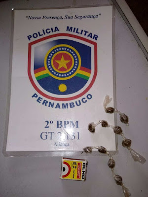 PM encontra drogas durante revista matinal na Cadeia Pública de Aliança