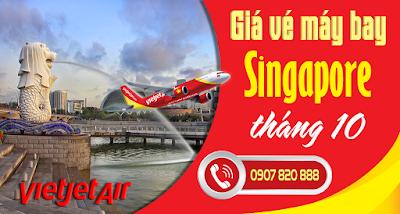 Giá vé máy bay đi Singapore tháng 10 Vietjet Air