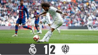 Real Madrid vs Levante 1-2 Video Gol Highlights