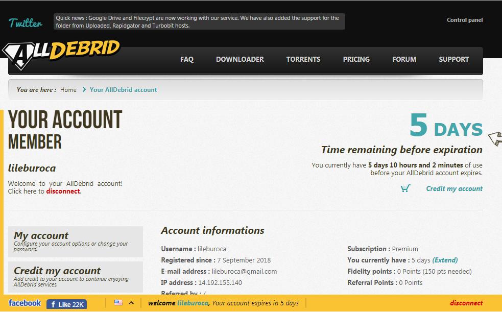 Alldebrid Premium Account February 20 2021 Free Premium Accounts