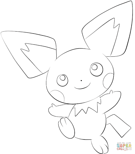 Click The Pichu Coloring Pages To View Printable Version Or Color It Online  Patible With Ipad And Android Tablets