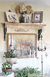 Cottage Style Vintage Shelf