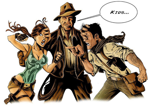 lara croft nathan drake indiana jones tomb raider uncharted