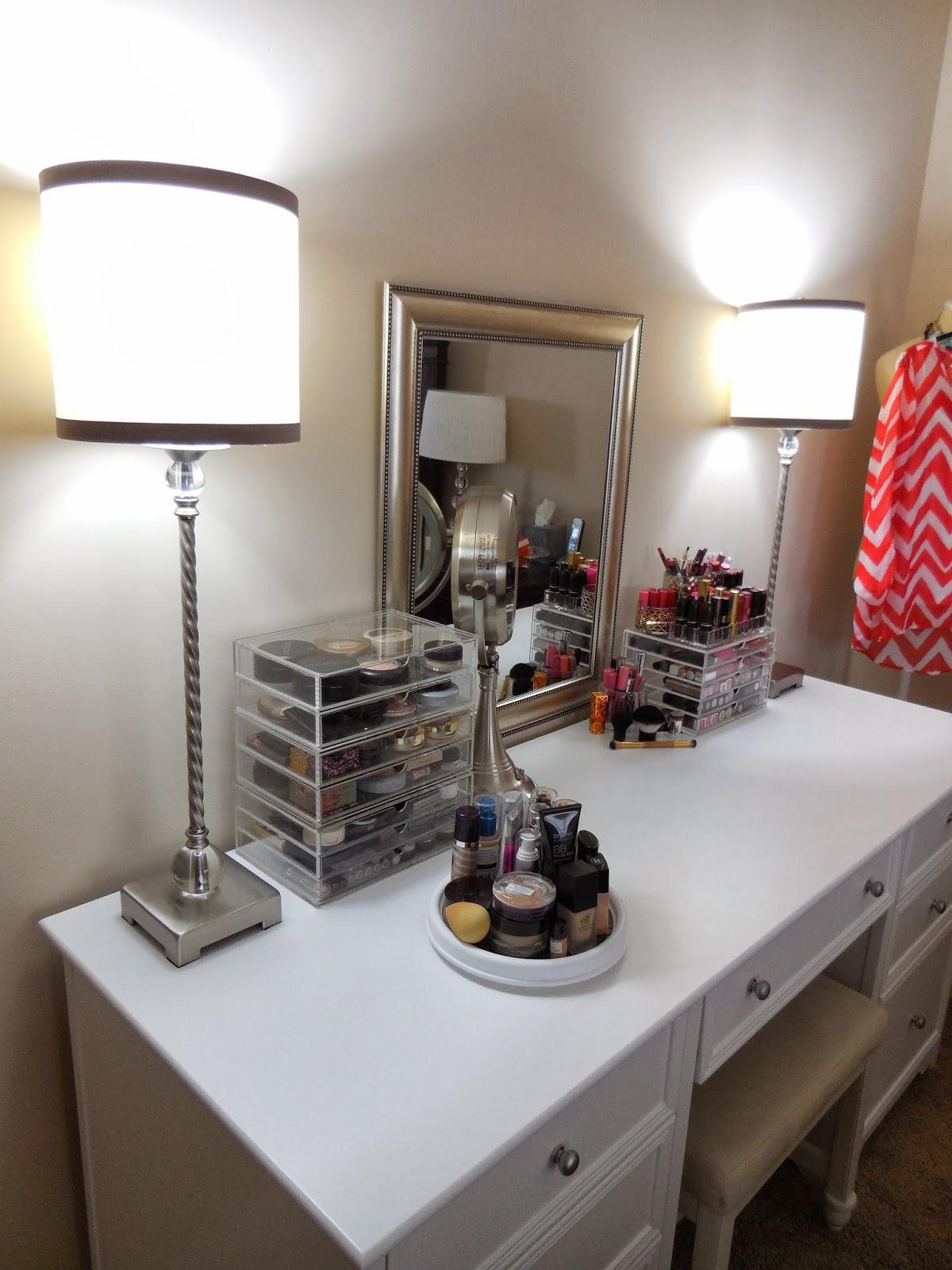 New Makeup Vanity And Organization