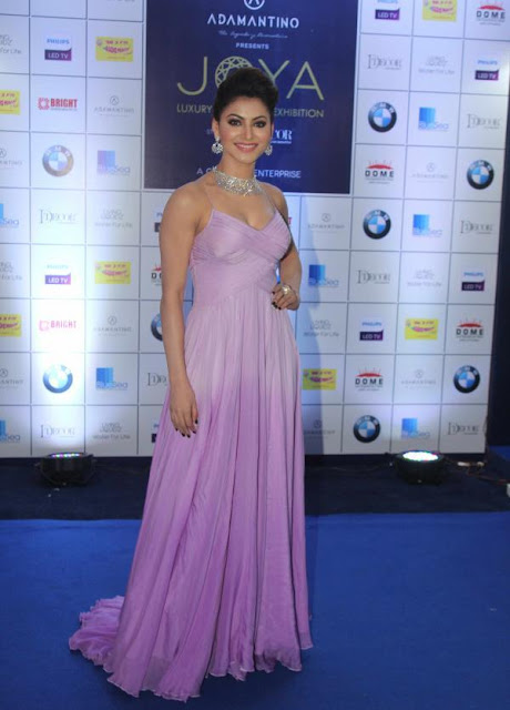 Urvashi Rautela Looks Stunning in Lavender Gown