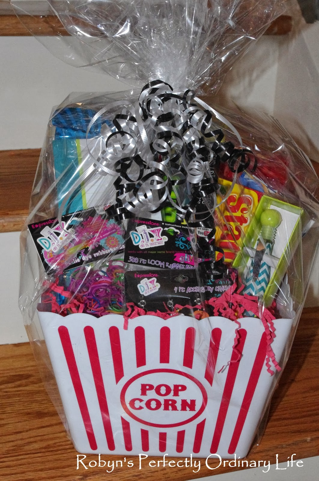 Give Her Friend A Gift Basket With All Of The Fun Things That She Picked Out For I Think They Look So Cute Wrapped Up In Such Way