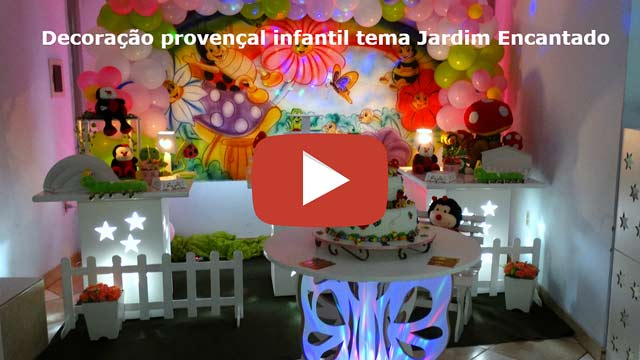 Decoração Jardim Encantado - Mesa provençal simples