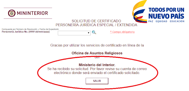 certificado de existencia y representacion legal online