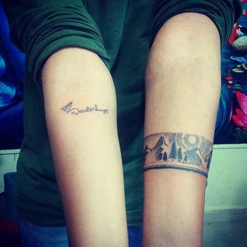 forest wiev armband tattoo orman kol bandı dövmesi