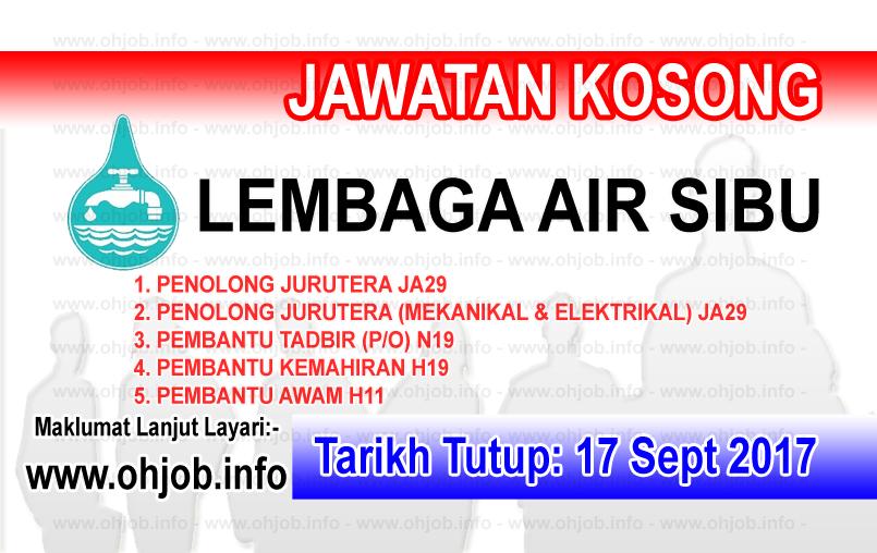 Jawatan Kerja Kosong Lembaga Air Sibu logo www.ohjob.info september 2017