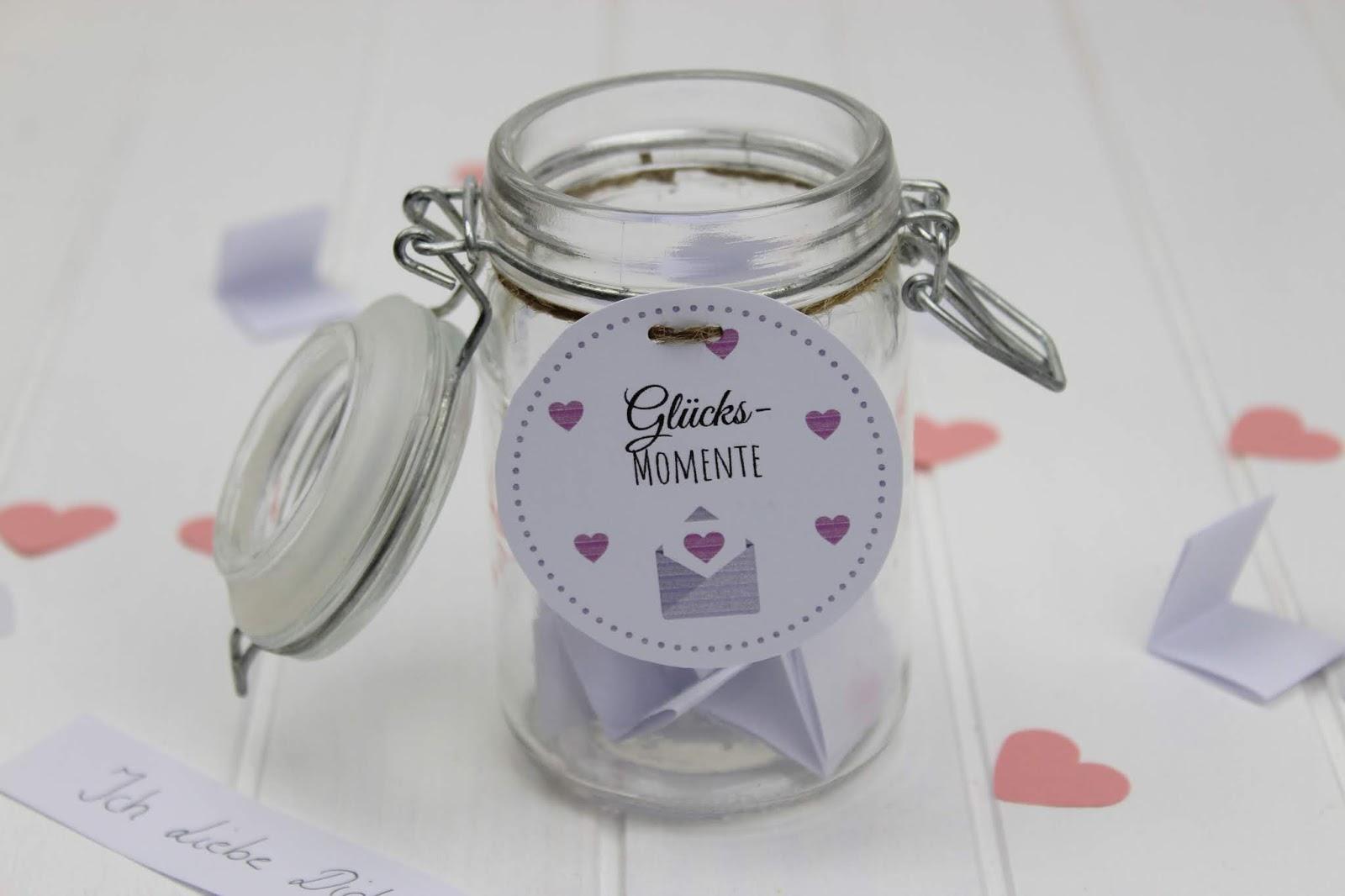 Diy Geschenk Im Glas Glücksmomente Selber Machen Perfekte Romantische Geschenkidee Zum Valentinstag