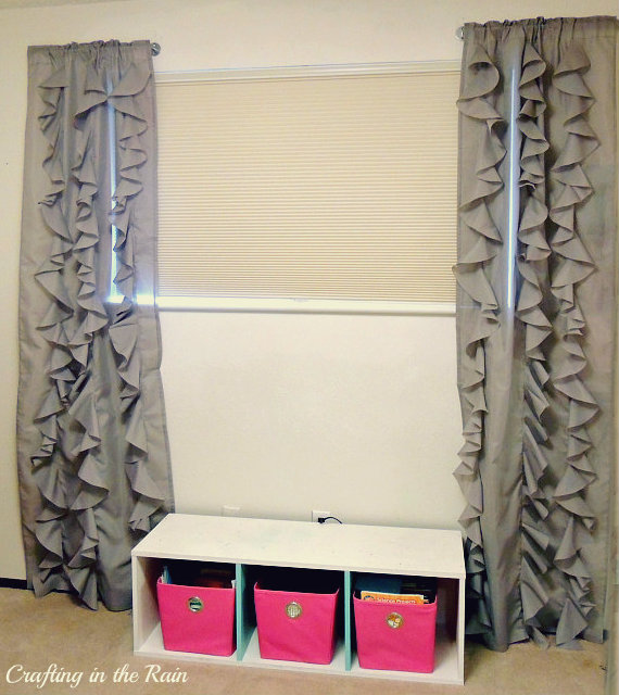 Did I Accomplish My Goal Of Having Fun Ruffle Y Curtains Without Them Being Too Much For The Room