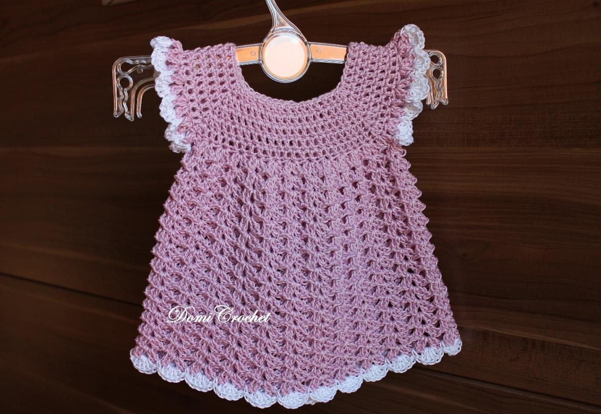 ab190fc8f1fd DomiCrochet  Háčkované detské šaty