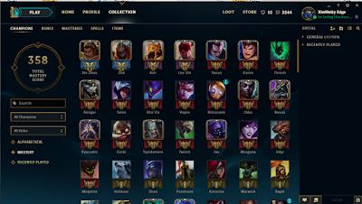 s-l1600%2B%25281%2529 EUNE League of Legends Account Plat 5 75 LP 73 Champions 20 Skins Games