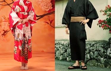 Kimono japones de hombre y de mujer