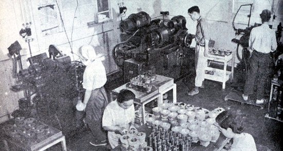 Honda factory in 1948