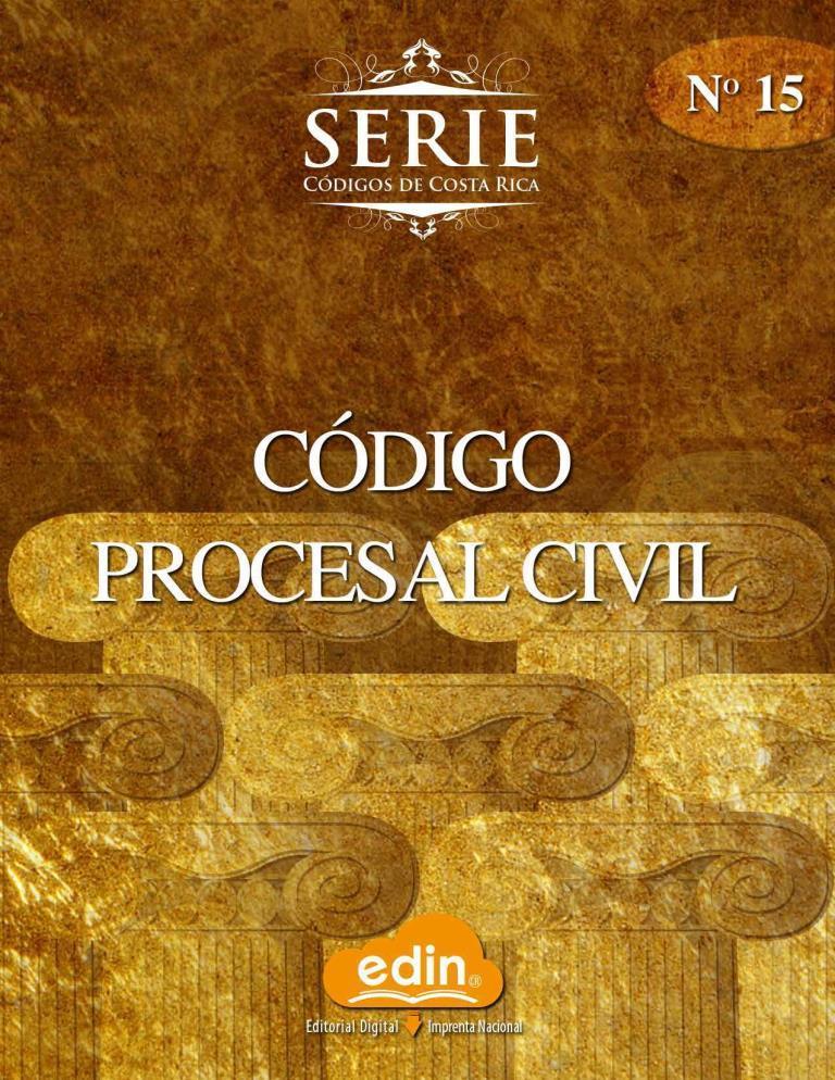 Código procesal civil [Imprenta Nacional]