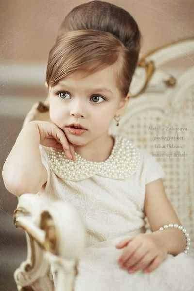 Profil Icin Kiz Fotolari: Kız Çocukları Için Popüler Saç Modelleri