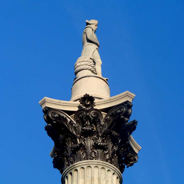 nelson's column trafalgar square london
