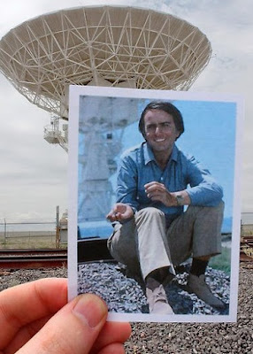 Carl Sagan with the VLA