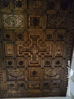 palacio farnese teto sala hercules esculpido madeira guia roma portugues - Palácio Farnese