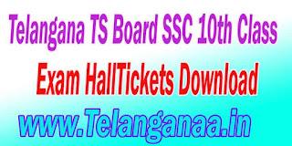 Telangana TS Board SSC 10th Class Exam HallTickets Download