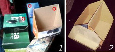 Organizador de objetos caixas de papelão recicladas