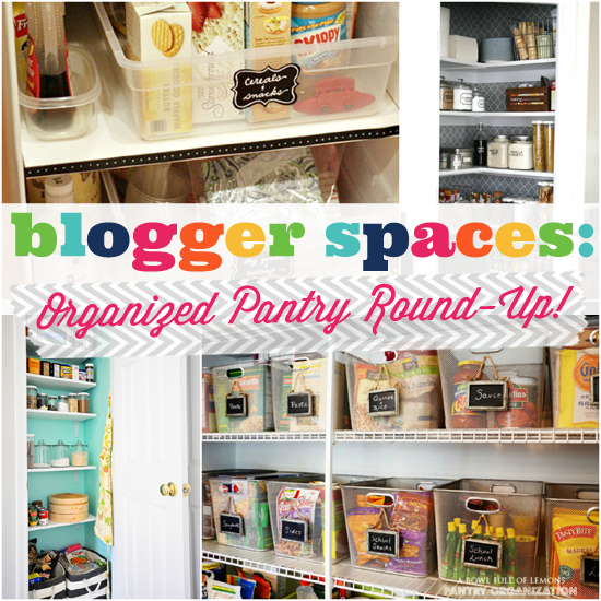 9 Tips For A Perfectly Organized Pantry: IHeart Organizing: Blogger Spaces: Organized Pantry Round-Up