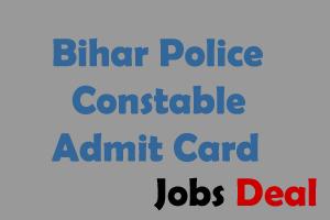 Bihar Police Admit Card 2016